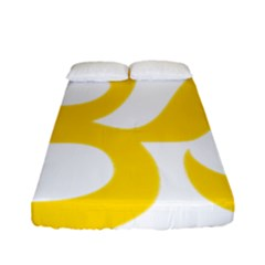 Hindu Om Symbol (yellow) Fitted Sheet (full/ Double Size) by abbeyz71