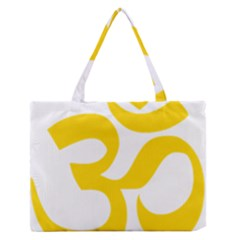 Hindu Om Symbol (yellow) Medium Zipper Tote Bag by abbeyz71