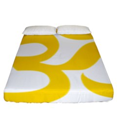 Hindu Om Symbol (yellow) Fitted Sheet (king Size) by abbeyz71