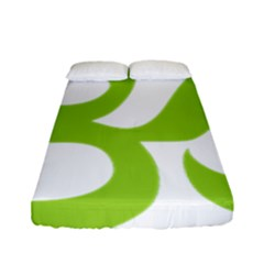 Hindu Om Symbol (lime Green) Fitted Sheet (full/ Double Size) by abbeyz71