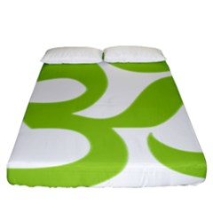 Hindu Om Symbol (lime Green) Fitted Sheet (king Size) by abbeyz71