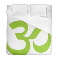 Hindu Om Symbol (lime Green) Duvet Cover (full/ Double Size) by abbeyz71