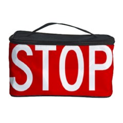 Stop Sign Cosmetic Storage Case by Valentinaart