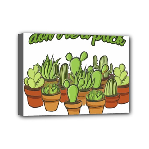 Cactus   Dont Be A Prick Mini Canvas 7  X 5