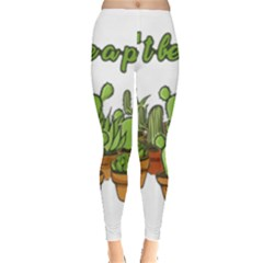 Cactus   Dont Be A Prick Leggings  by Valentinaart