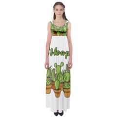 Cactus - Dont Be A Prick Empire Waist Maxi Dress by Valentinaart