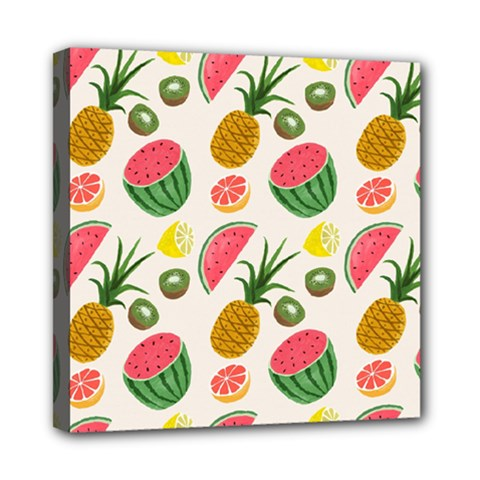 Fruits Pattern Mini Canvas 8  X 8