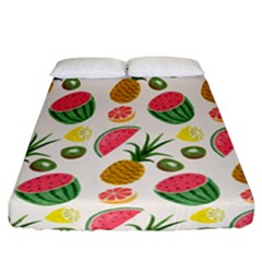 Fruits Pattern Fitted Sheet (california King Size)