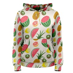Fruits Pattern Women s Pullover Hoodie