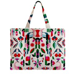 Abstract Peacock Zipper Mini Tote Bag by Nexatart