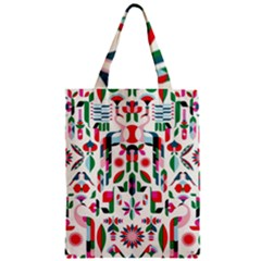 Abstract Peacock Zipper Classic Tote Bag by Nexatart