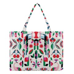 Abstract Peacock Medium Tote Bag by Nexatart