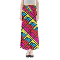 Hert Graffiti Pattern Maxi Skirts