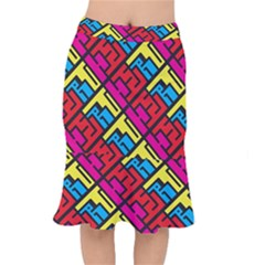 Hert Graffiti Pattern Mermaid Skirt
