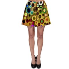 Colorful Circle Pattern Skater Skirt