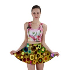 Colorful Circle Pattern Mini Skirt by Costasonlineshop