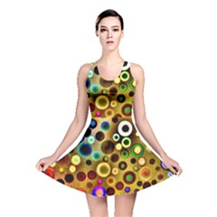 Colorful Circle Pattern Reversible Skater Dress by Costasonlineshop