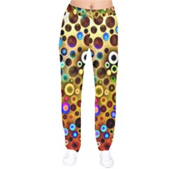 Colorful Circle Pattern Drawstring Pants by Costasonlineshop
