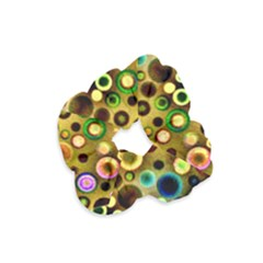 Colorful Circle Pattern Velvet Scrunchie by Costasonlineshop