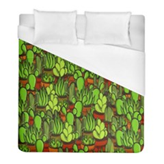 Cactus Duvet Cover (full/ Double Size) by Valentinaart
