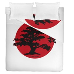 Bonsai Duvet Cover Double Side (queen Size) by Valentinaart