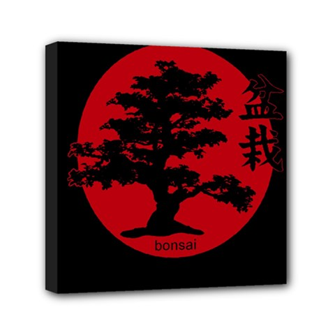 Bonsai Mini Canvas 6  X 6  by Valentinaart