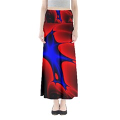 Space Red Blue Black Line Light Maxi Skirts by Mariart