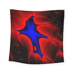 Space Red Blue Black Line Light Square Tapestry (small)