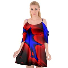 Space Red Blue Black Line Light Cutout Spaghetti Strap Chiffon Dress