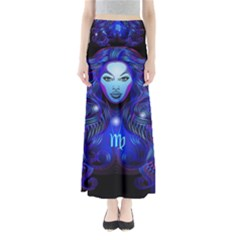 Sign Virgo Zodiac Maxi Skirts by Mariart