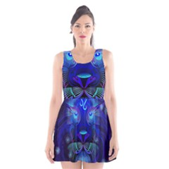 Sign Leo Zodiac Scoop Neck Skater Dress