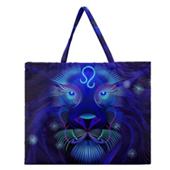 Sign Leo Zodiac Zipper Large Tote Bag by Mariart