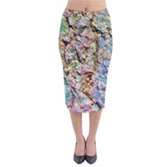 Abstract Background Wallpaper 1 Velvet Midi Pencil Skirt by Costasonlineshop