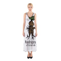 Mandrake Plant Sleeveless Maxi Dress by Valentinaart