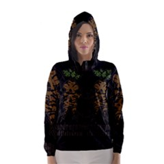 Mandrake Plant Hooded Wind Breaker (women)