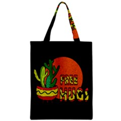Cactus   Free Hugs Zipper Classic Tote Bag by Valentinaart