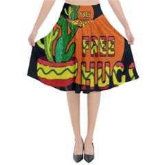 Cactus   Free Hugs Flared Midi Skirt