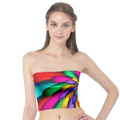 Star Flower Color Rainbow Tube Top by Mariart