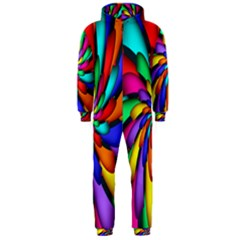 Star Flower Color Rainbow Hooded Jumpsuit (men)