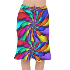 Star Flower Color Rainbow Mermaid Skirt by Mariart
