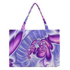 Space Stone Purple Silver Wave Chevron Medium Tote Bag by Mariart