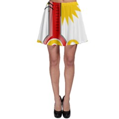 Thermometer Themperature Hot Sun Skater Skirt by Mariart