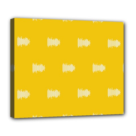 Waveform Disco Wahlin Retina White Yellow Deluxe Canvas 24  X 20   by Mariart