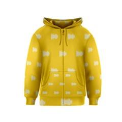 Waveform Disco Wahlin Retina White Yellow Kids  Zipper Hoodie by Mariart