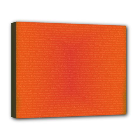 Scarlet Pimpernel Writing Orange Green Deluxe Canvas 20  X 16   by Mariart