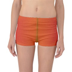 Scarlet Pimpernel Writing Orange Green Reversible Bikini Bottoms by Mariart