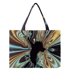 Silver Gold Hole Black Space Medium Tote Bag by Mariart