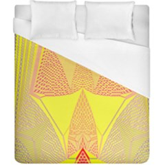 Wave Chevron Plaid Circle Polka Line Light Yellow Red Blue Triangle Duvet Cover (california King Size) by Mariart