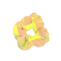 Wave Chevron Plaid Circle Polka Line Light Yellow Red Blue Triangle Velvet Scrunchie by Mariart