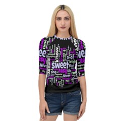 Writing Color Rainbow Sweer Love Quarter Sleeve Tee by Mariart